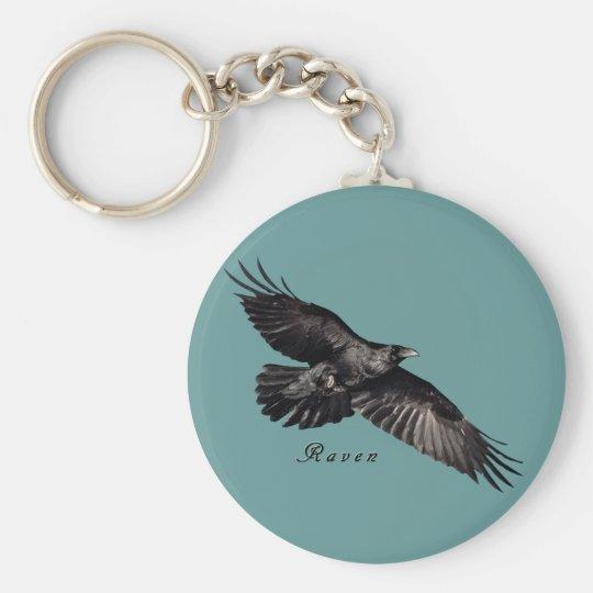 Raven Animal-lover Bird-fancier Gifts Basic Round Button Key Ring