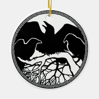 Raven Art Ornament Black Crow Decorations Gifts