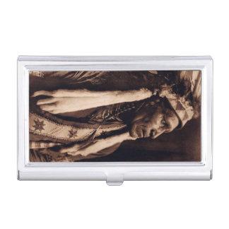 Raven Blanket Nez Percé Vintage Native American Business Card Case