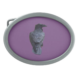 Raven Buckle Oval Belt Buckle