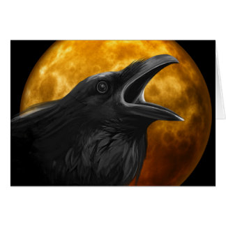 Raven Call Pagan Greeting Card