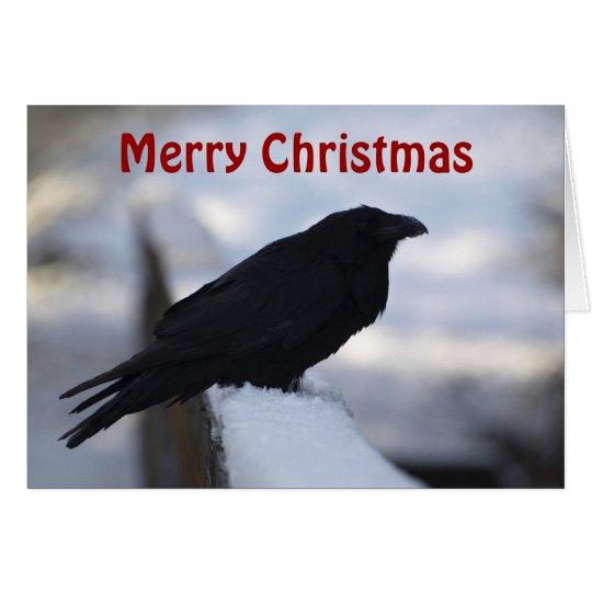 Raven Christmas Greeting Cards