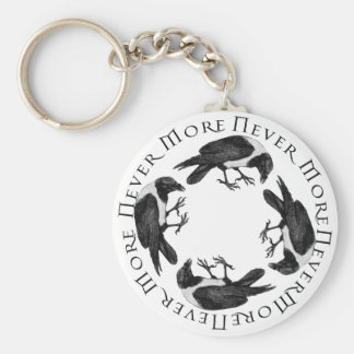 Raven Circle Basic Round Button Key Ring