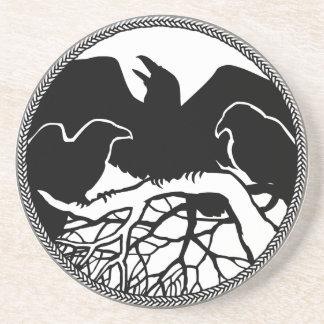 Raven Coaster Raven Gift Raven & Crow Art Decor