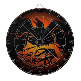 Raven Dartboard Cool Tribal Raven Art Dartboard