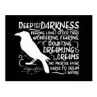 Raven (Deep Into That Darkness) by Edgar Allan Poe Postcard