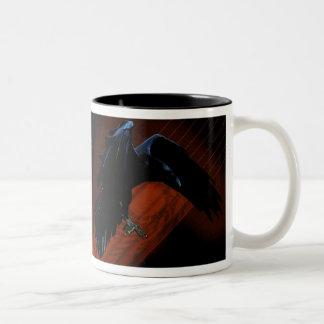 Raven Descent II Two-Tone Coffee Mug