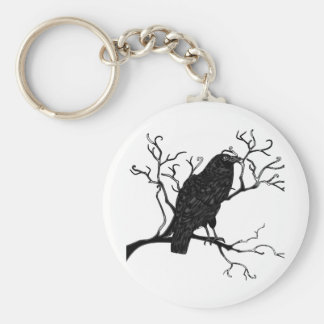 Raven Design Basic Round Button Key Ring