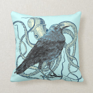 Raven Dreams of the Octopus Cushion