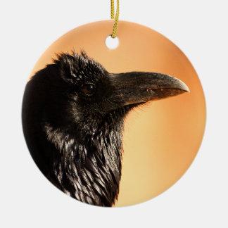 raven face christmas ornament