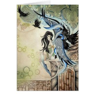 Raven Faery Card
