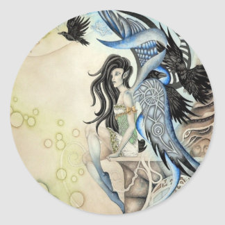 Raven Faery Sticker