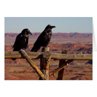 Raven Fence Card
