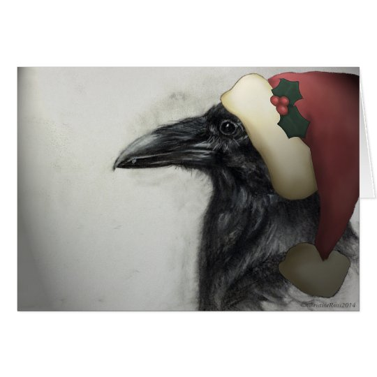 Raven for the Season Card