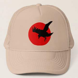 Raven full blood red moon Happy Halloween Trucker Hat