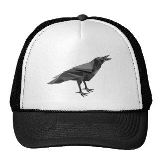 Raven Geometric Cubist Grey Triangles Trucker Hats