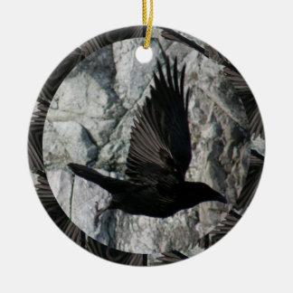 Raven in Flight Ornament