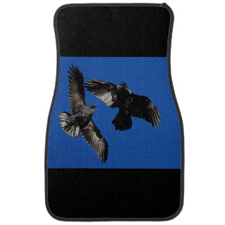 Raven in Flight Floor Mat