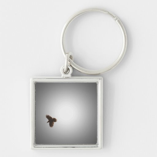 Raven in Flight Key Chains