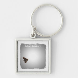 Raven in Flight; Yukon Territory Souvenir Keychain