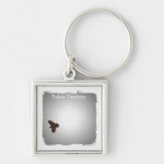 Raven in Flight Yukon Territory Souvenir Keychain