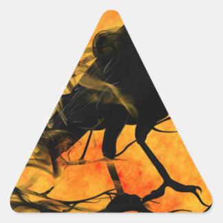 Raven in Tree Triangle Sticker