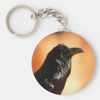raven basic round button key ring