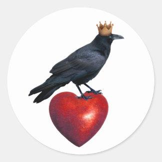 Raven King Heart Sticker