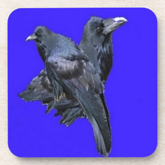 Raven Lovers Purple Gifts by Sharles Beverage Coasters