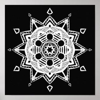 Raven Mandala Poster