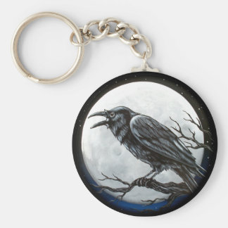 Raven Moon Key Ring