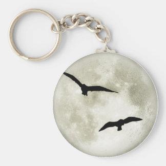 Raven Moon Keychain