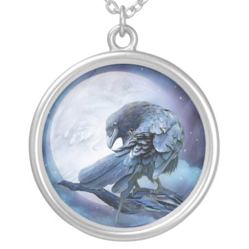 Raven Moon Wearable Art Necklace