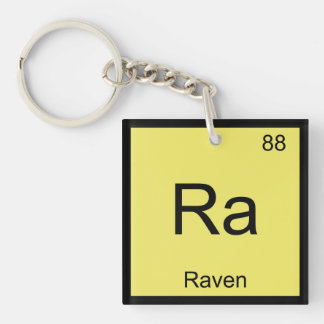 Raven Name Chemistry Element Periodic Table Key Ring