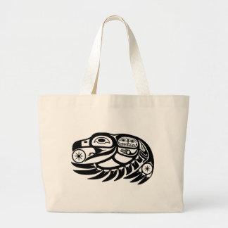 Raven Native American Design Large Tote Bag