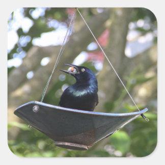 Raven Never More! Square Sticker