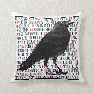 Raven Never More throw pillow
