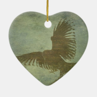 Raven of Poe's Poetry Christmas Ornament