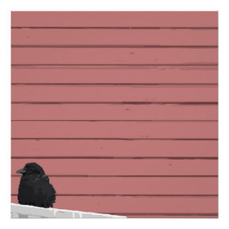 Raven on a Railing Poster