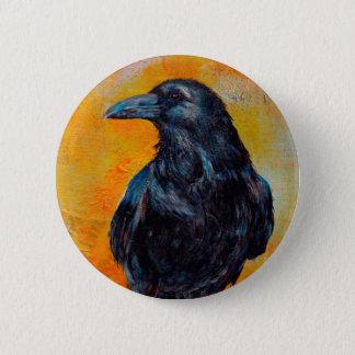 Raven on Canvas 6 Cm Round Badge