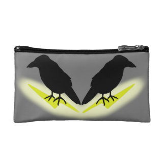 Raven on Lightning Makeup Bag