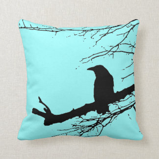 Raven on the Tree by Alexandra Cook Throw Cushions