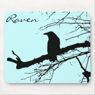 Raven on the Tree Mouse Pad