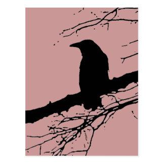 Raven on the Tree Postcard
