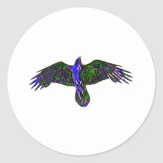 Raven Paint Classic Round Sticker