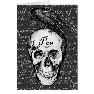 Raven Poe Blank Card