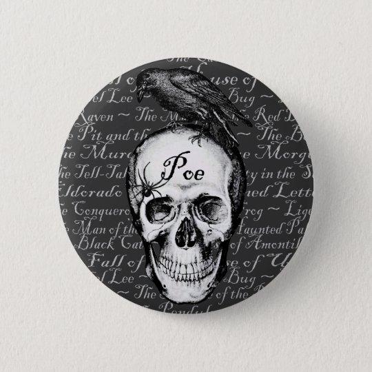 Raven Poe Button