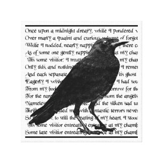 Raven Poem Edgar Allan Poe Gallery Wrapped Canvas