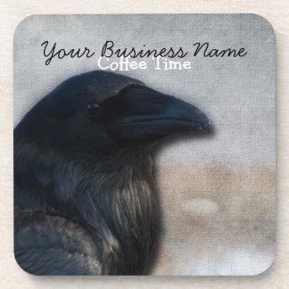 Raven Portrait; Promotional Beverage Coasters