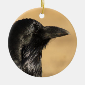 raven profile christmas ornament